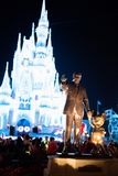 Cinderella Castle at The Magic Kingdom, Walt Disney World. Orlando, Florida: December 2, 2017: Cinderella Castle at The Magic Kingdom, Walt Disney World. In Stock Image