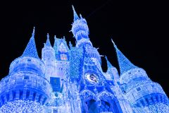 Cinderella Castle at The Magic Kingdom, Walt Disney World. Orlando, Florida: December 2, 2017: Cinderella Castle at The Magic Kingdom, Walt Disney World. In Stock Image