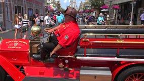 Cinderella Castle Walt Disney World Det magiska kungariket parkerar, Orlando USA lager videofilmer