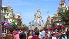 Cinderella Castle, Walt Disney World Parque mágico del reino, Orlando EE.UU. almacen de video