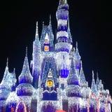 Cinderella Castle am Weihnachten lizenzfreie stockfotos