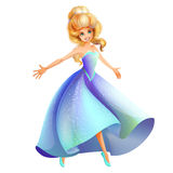 Cinderella character isolated Stock Images