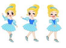 Cinderella. Story line illustrations concept Stock Photos