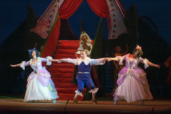 Cinderella. DNEPROPETROVSK, UKRAINE - DECEMBER 30: Members of the Dnepropetrovsk State Opera and Ballet Theatre perform CINDERELLA on December 30, 2013 in stock images