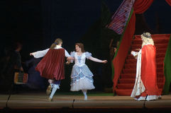 Cinderella. DNEPROPETROVSK, UKRAINE - DECEMBER 30: Members of the Dnepropetrovsk State Opera and Ballet Theatre perform CINDERELLA on December 30, 2013 in stock photography