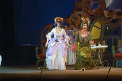 Cinderella. DNEPROPETROVSK, UKRAINE - DECEMBER 30: Members of the Dnepropetrovsk State Opera and Ballet Theatre perform CINDERELLA on December 30, 2013 in royalty free stock image
