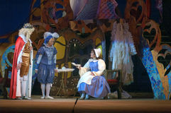 Cinderella. DNEPROPETROVSK, UKRAINE - DECEMBER 30: Members of the Dnepropetrovsk State Opera and Ballet Theatre perform CINDERELLA on December 30, 2013 in stock photos