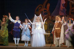 Cinderella. DNEPROPETROVSK, UKRAINE - DECEMBER 30: Members of the Dnepropetrovsk State Opera and Ballet Theatre perform CINDERELLA on December 30, 2013 in stock image