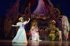 Cinderella. DNIPRO, UKRAINE - JANUARY 5, 2017: Musical play Cinderella performed by members of the Dnipro Opera and Ballet Theatre stock image