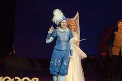 Cinderella. DNIPRO, UKRAINE - JANUARY 5, 2017: Musical play Cinderella performed by members of the Dnipro Opera and Ballet Theatre stock photography