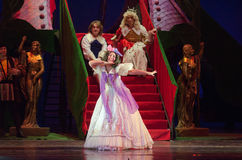 Cinderella. DNIPRO, UKRAINE - JANUARY 5, 2017: Musical play Cinderella performed by members of the Dnipro Opera and Ballet Theatre royalty free stock images