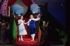 Cinderella. DNIPRO, UKRAINE - JANUARY 5, 2017: Musical play Cinderella performed by members of the Dnipro Opera and Ballet Theatre stock images