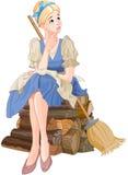 Cinderella Dreaming. Illustration of a Cinderella dreaming royalty free illustration