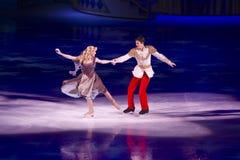 Cinderella e príncipe encantamento Disney no gelo Imagem de Stock