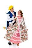 Cinderella e príncipe, Halloween fotos de stock