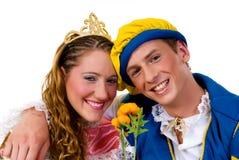 Cinderella e príncipe, Halloween fotografia de stock royalty free