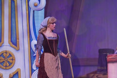 Cinderella em panos da limpeza Fotografia de Stock Royalty Free