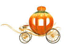 Cinderella fairy tale pumpkin carriage. Isolated Royalty Free Stock Photography