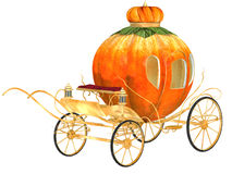Cinderella fairy tale pumpkin carriage. Isolated Royalty Free Stock Photo