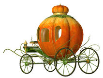 Cinderella fairy tale pumpkin carriage. Isolated Royalty Free Stock Images