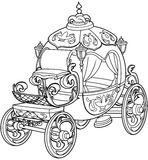 Cinderella Fairy Tale Pumpkin Carriage. Coloring page Stock Photos