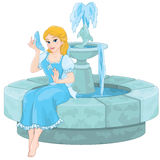 Cinderella Fountain Stockbilder