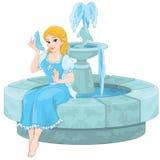 Cinderella Fountain Arkivbilder
