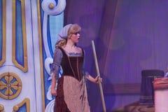 Cinderella in het schoonmaken van vodden Royalty-vrije Stock Fotografie