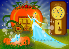 Cinderella illustration Royalty Free Stock Image