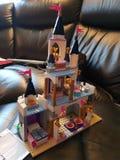Cinderella Lego castle royalty free stock image