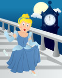 Cinderella at Midnight vector illustration