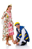 Cinderella and prince, Halloween Royalty Free Stock Images
