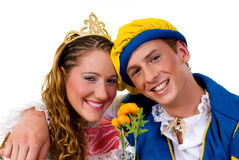Cinderella and prince, Halloween Royalty Free Stock Photography