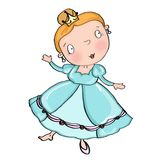 Cinderella. Princess dancing with beautiful dress Royalty Free Stock Photos
