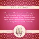Cinderella princess invitation template Royalty Free Stock Photography