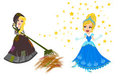 Cinderella stock illustration
