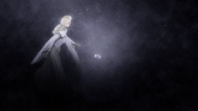 Cinderella Running Midnight Illustration stock abbildung