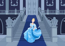 Cinderella Runs Away Stock Photography