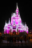 Cinderella's Castle, Christmas 2015 Royalty Free Stock Images