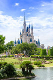 Cinderella's castle at Disney World. Cinderella's castle in the Magic Kingdom in Disney World Orlando Florida Stock Photo