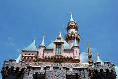 Cinderella's castle in disneyland Royalty Free Stock Photos
