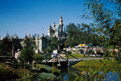 Cinderella's Castle Disneyland 1957. Stock Images