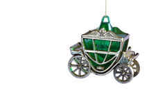 Cinderella's coach. Christmas tree coach ornament. White background, cut out Stock Photo