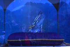 Cinderella's glass shoe. In Disneyland, hongkong Royalty Free Stock Photo