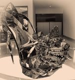 Cinderella`s Shoe at the MGM Grand at National Harbor, Maryland Stock Photos