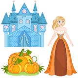 Cinderella Set Royalty Free Stock Images