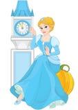 Cinderella sitting on pumpkin. Cute Cinderella sitting on pumpkin Stock Photo