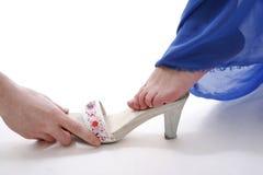 cinderella sko Royaltyfri Bild