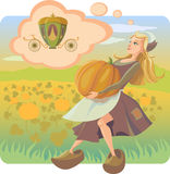Cinderella. Voorbereiding voor bal Stock Foto