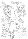 Cinderella's sister and stepmother Royalty Free Stock Photos